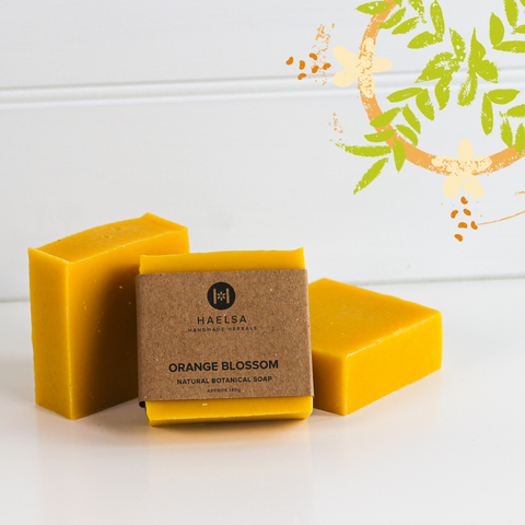 Orange blossom soap in group