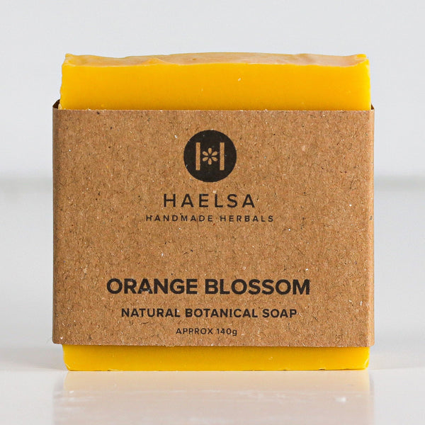 Orange blossom soap in wrapper