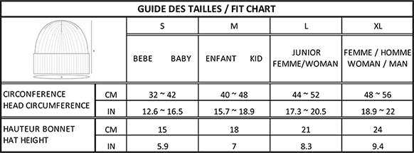 Beanie fit guide