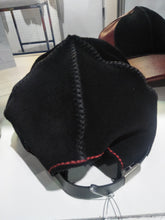 Leather and Suede Cap