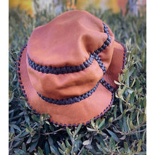 Leather bucket hat - leather hat