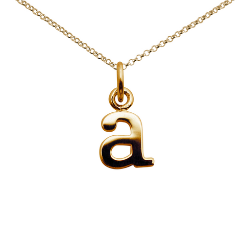 Lily Charmed Letter Necklace