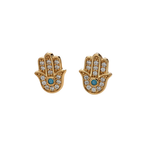 Fatima Hand Pave Studs by Scream Pretty