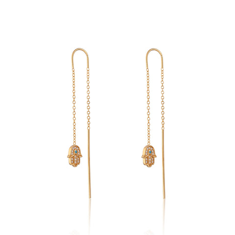 Fatima Hand Threader Earrings by Scream Pretty