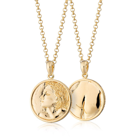 Heads or Tails double sided Coin Pendant