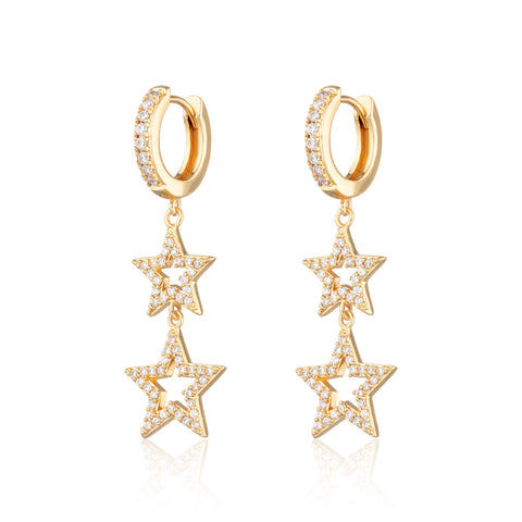 Statement double star hoops