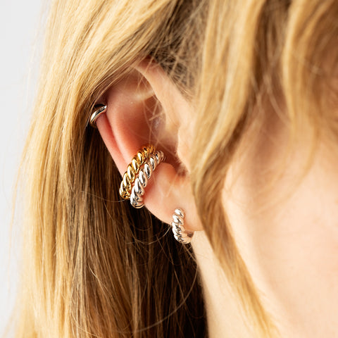 Twist and Shout Ear Cuff and Huggies