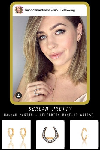 Hannah Martin Makeup Scream Pretty Jewellery