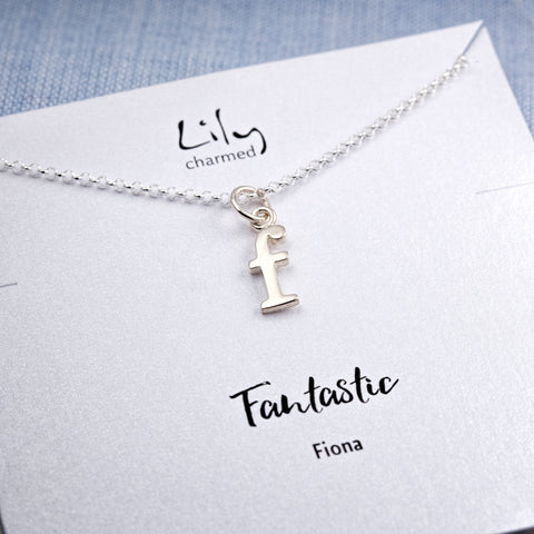 Lily Charmed Personalised Letter Charm necklace