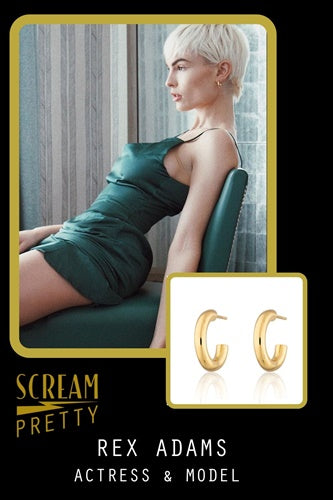 REX ADAMS model Scream Pretty Jewellery