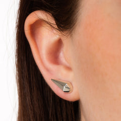 Faceted Teardrop Stud Earrings by Scream Pretty as seen on Jodie Whittaker