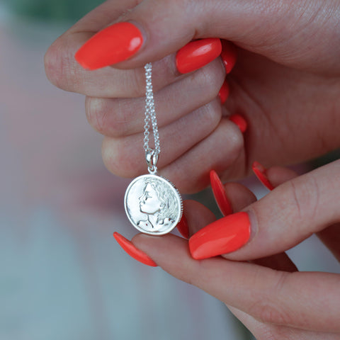 Heads or Tails Coin Pendant