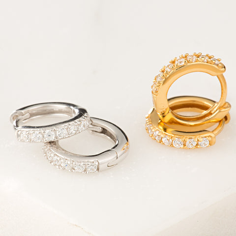 Clear Huggie Hoops by Scream Pretty