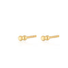 Gold Plated Solder Dot 2 Bead Stud Earrings by Scream Pretty
