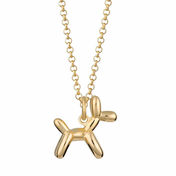 Gold Balloon Dog Necklace by Scream Pretty