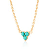 Turquoise Trinity Necklace with Slider Clasp