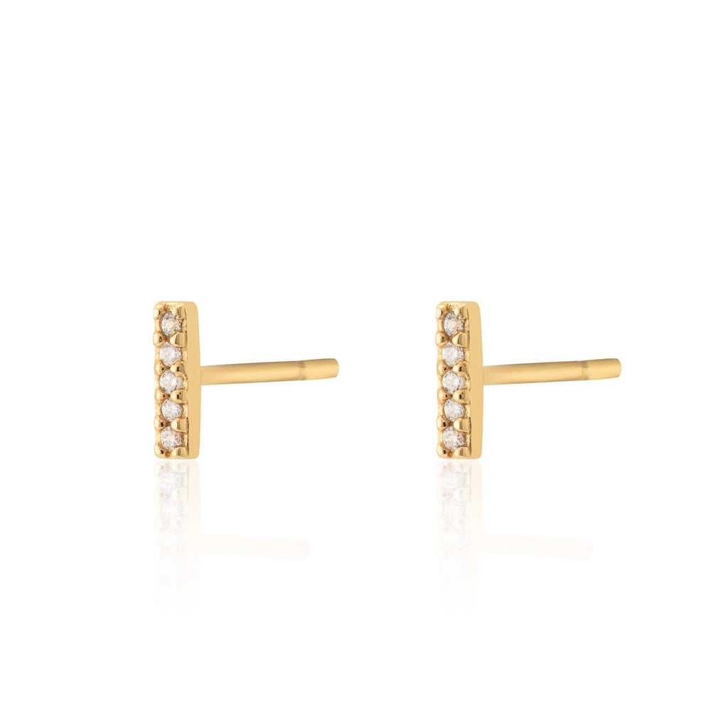 Sparkling Dash Stud Earrings