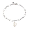 Hannah Martin Long Link Bracelet with Baroque Pearl