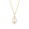 Hannah Martin Baroque Pearl Necklace with Slider Clasp