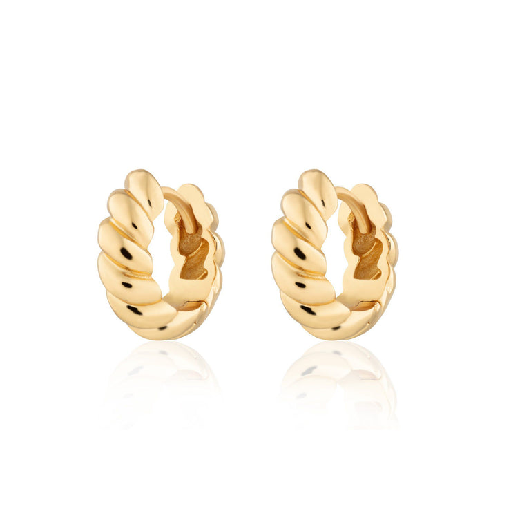 Hannah Martin Twist & Shout Chunky Huggie Earrings