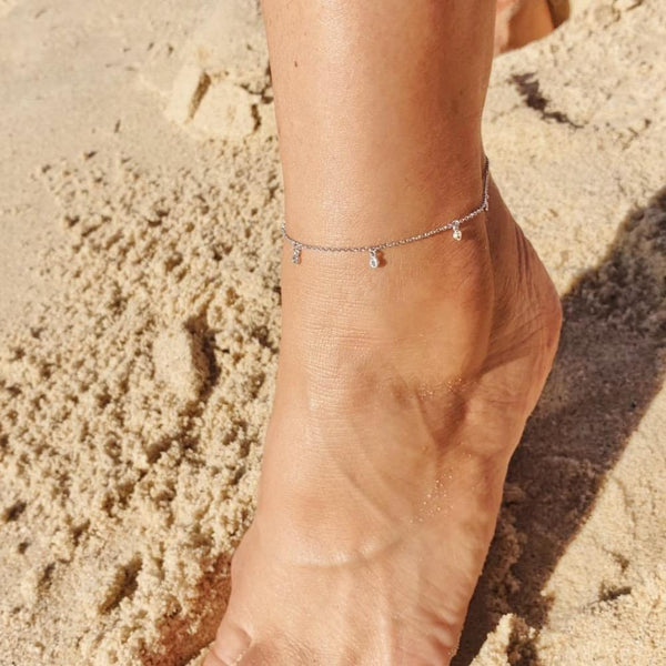 Anklet with Sparkle Drops