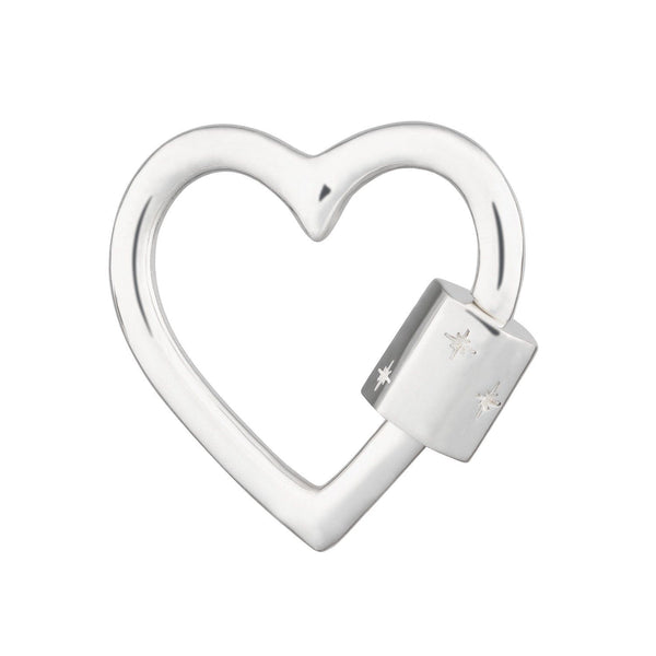 Silver Heart Carabiner Charm Lock by Scream Pretty