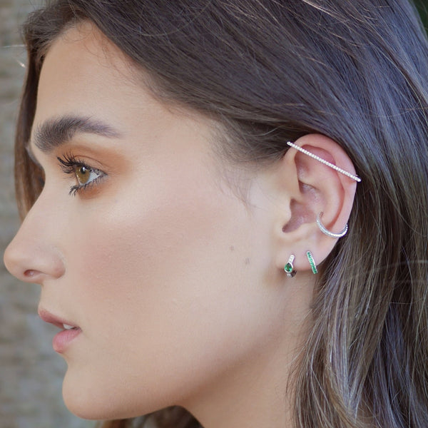 Sparkling Cartilage Bar Ear Cuff