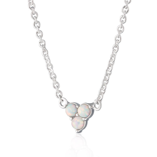 Opal Trinity Necklace with Slider Clasp