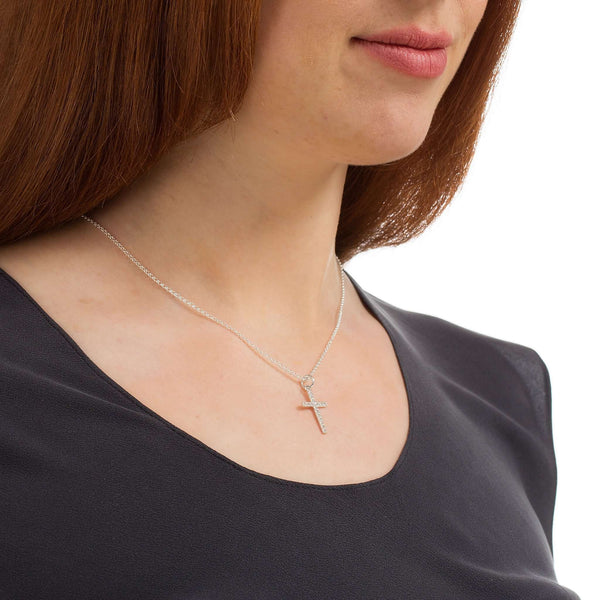 Crystal Cross Necklace - Scream Pretty