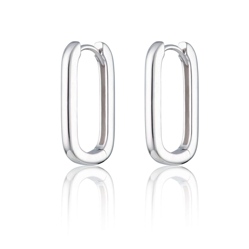 Oval Huggie Hoop Earrings - Scream Pretty