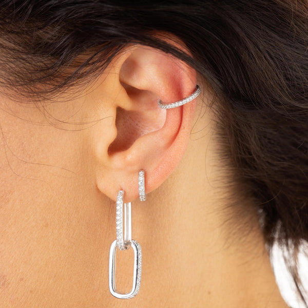 Slim Sparkling Single Ear Cuff