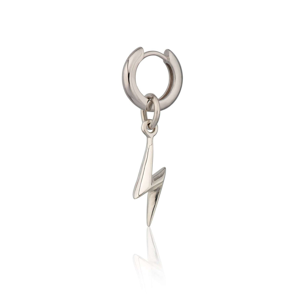 Lightning Bolt Huggie Hoop Earring (Single Earring) - Scream Pretty