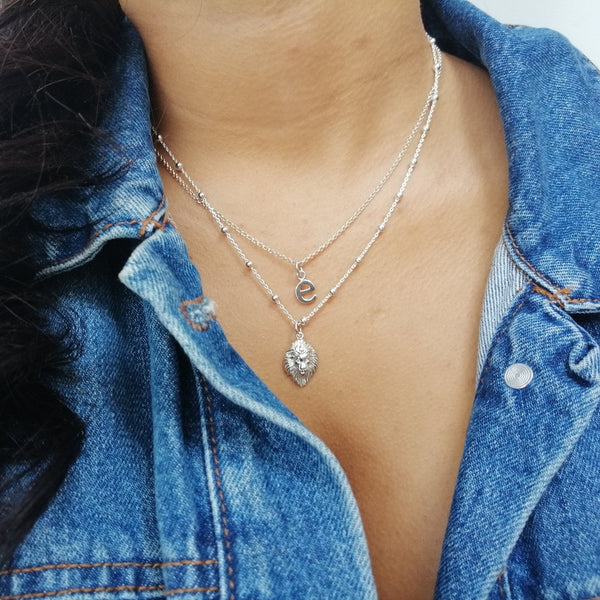 Lion Head Satellite Chain Necklace
