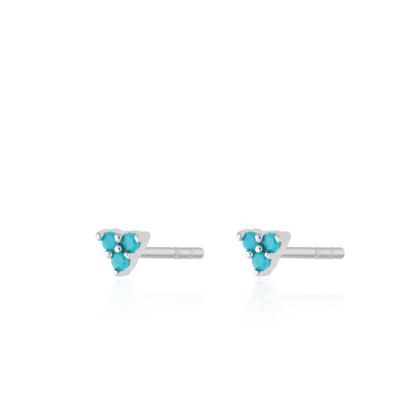 Turquoise Trinity Stud Earrings