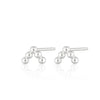 Silver Solder Dot 5 Bead Stud Earrings by Scream Pretty
