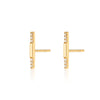Sparkling Segment Bar Stud Earrings