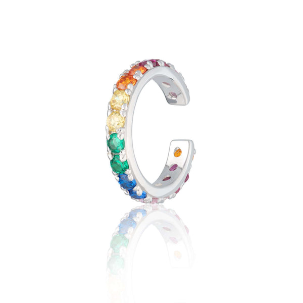 Rainbow Sparkling Ear Cuff, Single Ear Cuff