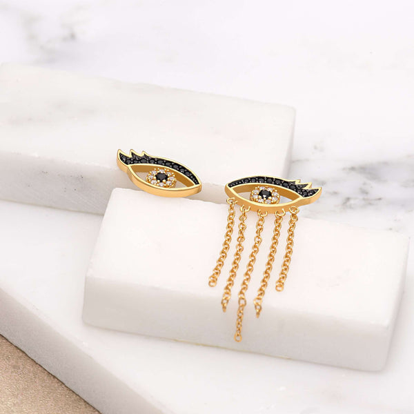 Earrings - Crying Eyes Mismatched Stud Earrings