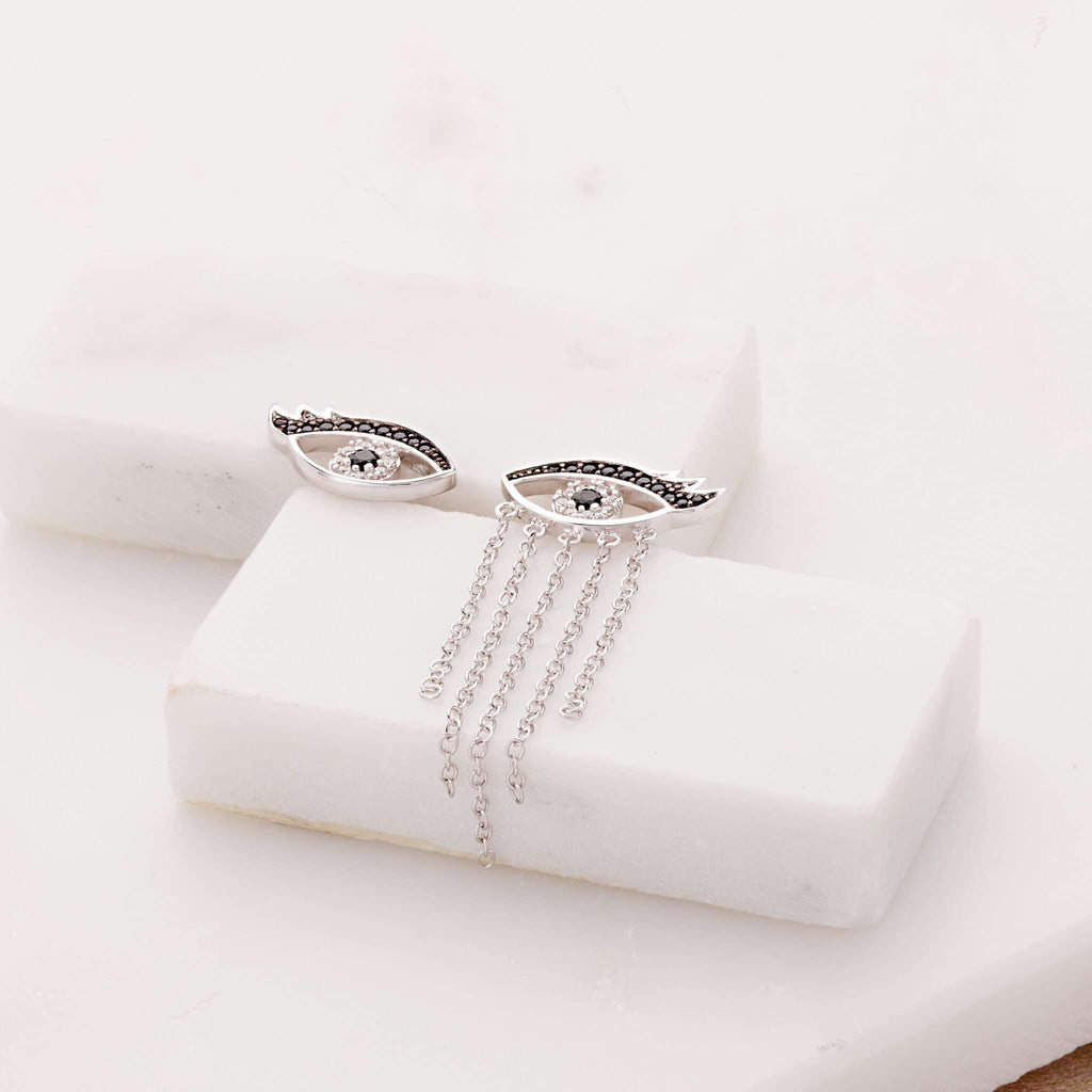 Crying Eyes Mismatched Stud Earrings - Scream Pretty
