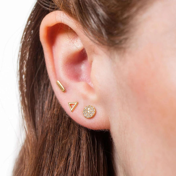 Dot Dash Set of 3 Single Stud Earrings - Scream Pretty