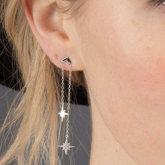 Double Drop Starburst Earrings - Scream Pretty