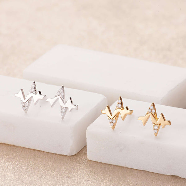 Heartbeat Stud Earrings - Scream Pretty