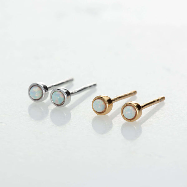 Earrings - Opal Teeny Stud Earrings