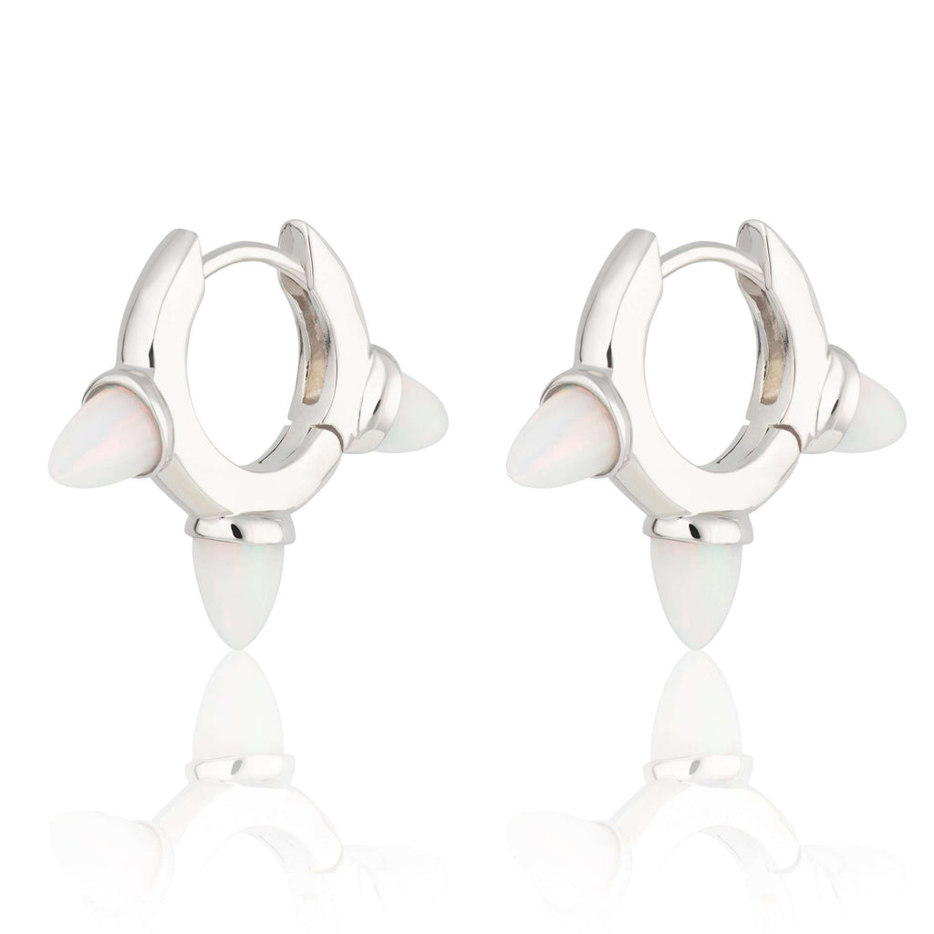 Opal Triple Bullet Huggie Earrings - Scream Pretty