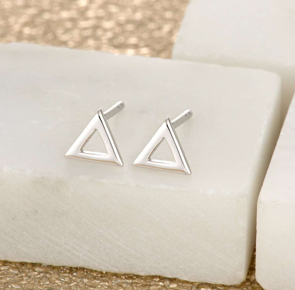 Earrings - Open Triangle Stud Earrings