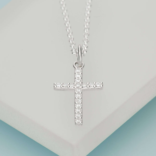Necklace - Crystal Cross Necklace