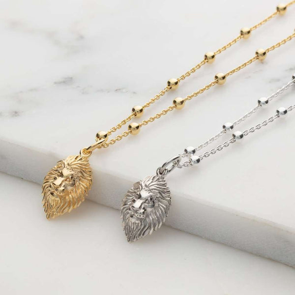 Necklace - Lion Head Satellite Chain Necklace