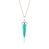 Turquoise Bullet Necklace with Slider Clasp - Scream Pretty