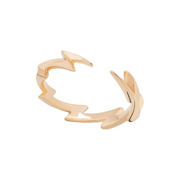 Gold Plated Lightning Bolt Stacking Ring