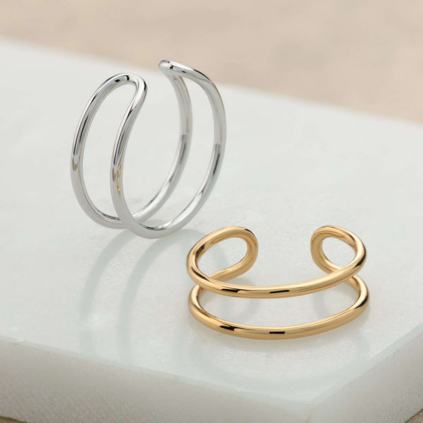Double Band Adjustable Ring - Scream Pretty